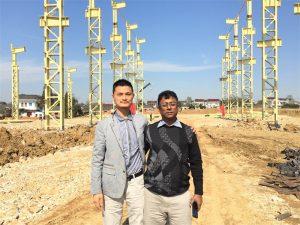 孟加拉國客戶前來參觀我們正在建設的新工廠