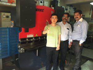 印度客戶訪問工廠和購買機器